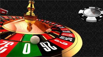 roulettebord och kula